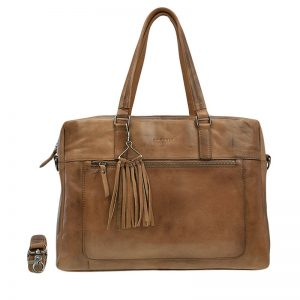 Burkely Noble Nova Laptoptas Cognac