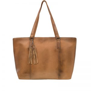 Burkely Noble Nova Wide Shopper Cognac