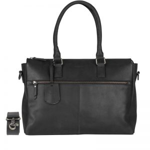 Burkely On The Move Zipper Laptoptas Black
