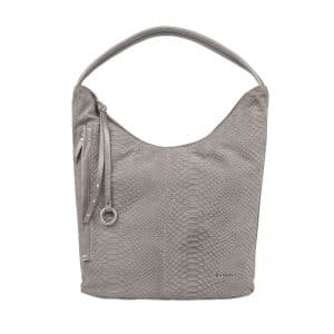 Burkely Pretty Pearl Hobo Anaconda Grey