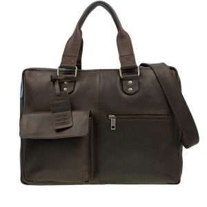 Burkely Vintage Quinn Laptoptas Dark Brown