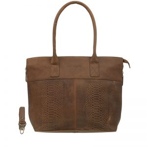 DSTRCT Fletcher Street 15.6'' Laptop Bag Zipper Cognac