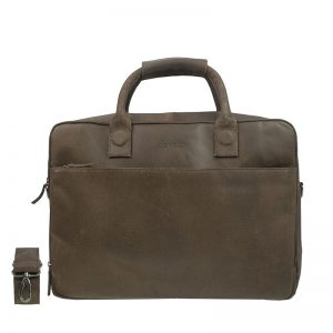 DSTRCT Fletcher Street 17'' Business Bag Zipper Brown