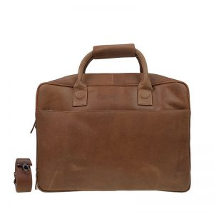 DSTRCT Fletcher Street 17'' Business Bag Zipper Cognac