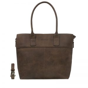DSTRCT Fletcher Street Laptop Bag Zipper Brown