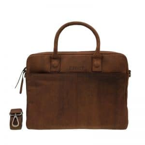 DSTRCT Wall Street 14  Laptop Bag Brown