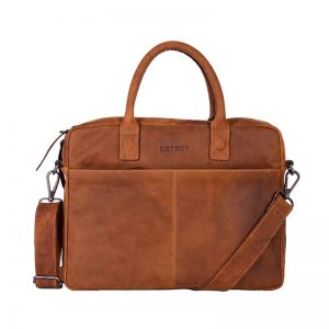 DSTRCT Wall Street 14  Laptop Bag Cognac