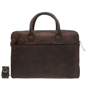 DSTRCT Wall Street 17'' Business Laptop Bag Brown