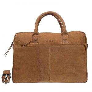 DSTRCT Wall Street 17'' Business Laptop Bag Cognac