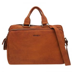 DSTRCT Wall Street 17'' Laptop Bag Cognac