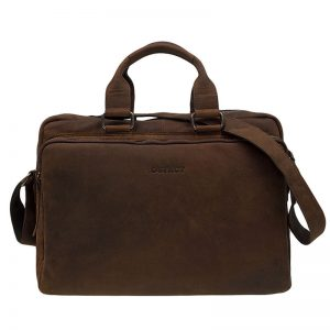 DSTRCT Wall Street 17'' Laptop Bag Mid Brown