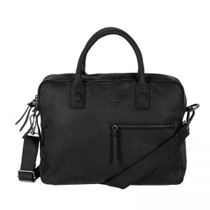 DSTRCT Wall Street Business Bag Double Zipper Black