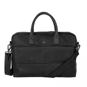 DSTRCT Wall Street Double Zipper Laptop Bag Black