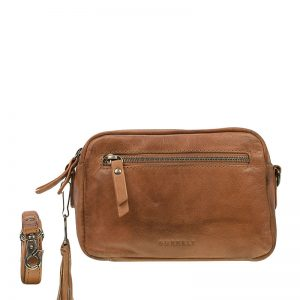 Burkely Noble Nova Crossbody 2Zip Cognac
