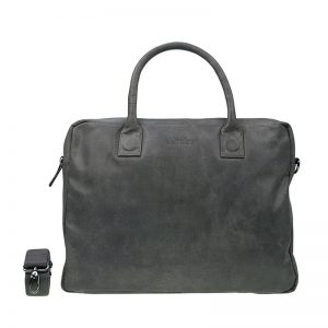 DSTRCT Fletcher Street Double Zipper Laptop Bag Grey