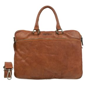 DSTRCT Pearl Street Double Zip Pocket Cognac
