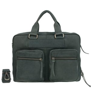 DSTRCT Wall Street Double Zipper 15'' Laptop Bag Black