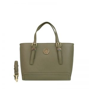 Tommy Hilfiger Honey Small Tote Dark Olive