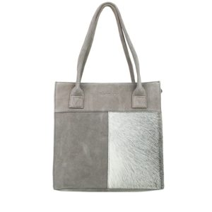 DSTRCT Hair On Shopper Small Grey