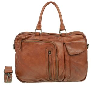 DSTRCT Pearl Street Single Zip Front Pockets Cognac