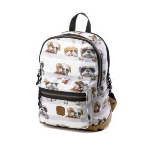 Pick & Pack Backpack Dogs White