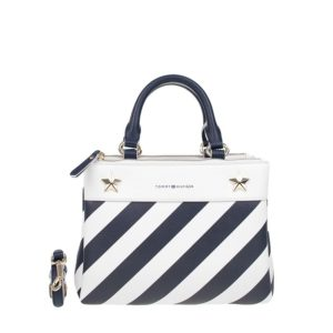 Tommy Hilfiger Cool Hardware Medium Satchel Stripe