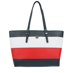 Tommy Hilfiger Honey EW Tote Four Pocket Corporate Stripe