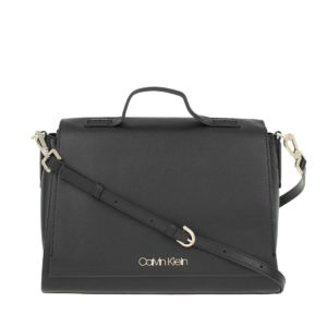 Calvin Klein Frame Top Handle Satchel Black