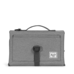 Herschel Sprout Change Mat Mid Grey Crosshatch