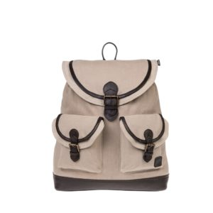 Monbeki Canvas Backpack Beige / Beige Kleppen
