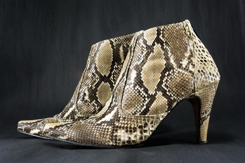 Slangenprint schoenen