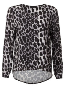 Blouse Leopard Gray