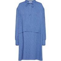 Calvin Klein Blousejurk 'PRT VISCOSE PIONEER DRESS LS' - Blauw