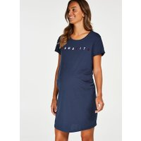 Hunkemöller Zwangerschapsnachthemd met korte mouwen Blauw