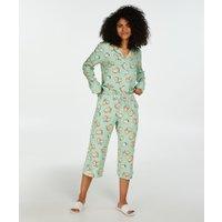 Hunkemöller Pyjamabroek Capri Woven Groen