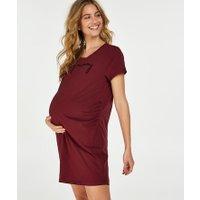 Hunkemöller Zwangerschapsnachthemd met korte mouwen Rood