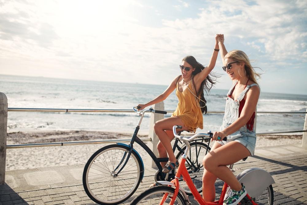 leuke fietstrips met vriendinnen