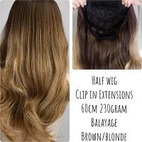 Balayage Half Wig 3 4wig Pruik Clip In Extensions